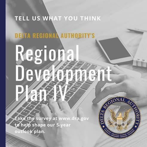 Delta Regional Authority Regional Development Plan IV Survey Graphic