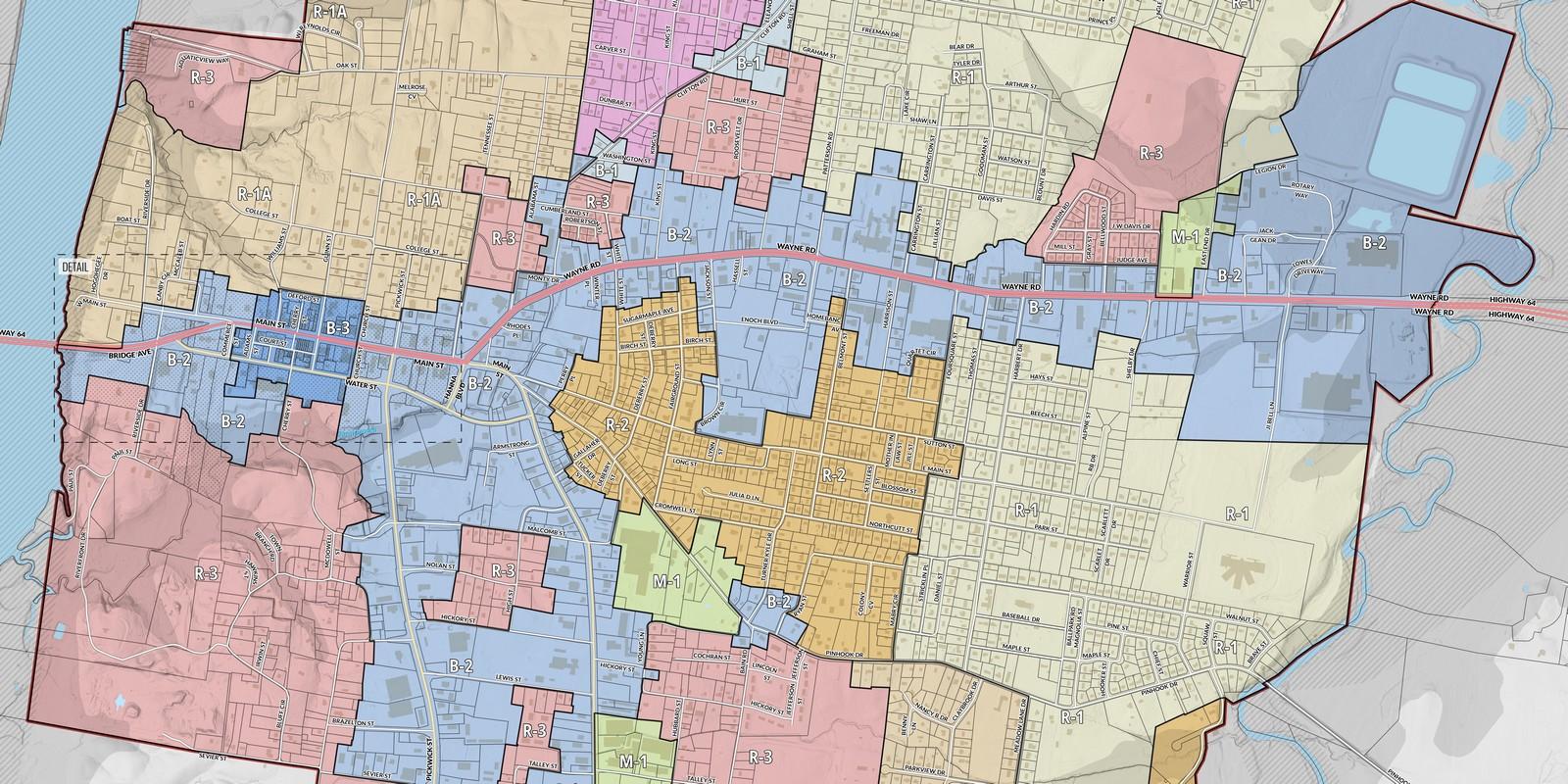 Savannah, TN Zoning Map
